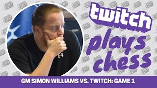 Twitch Plays Pure Chess: 6000 players vs. GM Simon Williams (Game 1)