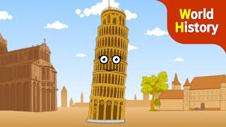 기우뚱 피사의 사탑 | 이탈리아 랜드마크 | 유네스코 지정 문화재 ★Genikids History
