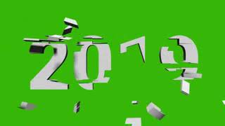 No Copyright Green Screen Happy New Year 2019 Ratabari
