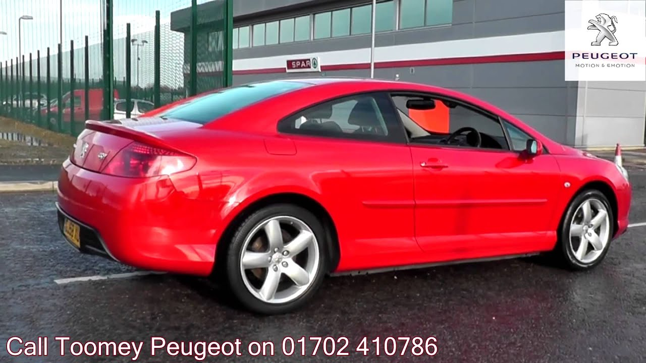 2008 peugeot 407 coupe bellagio 2l flamenco red gj58xuw for sale at toomey peugeot southend. Black Bedroom Furniture Sets. Home Design Ideas