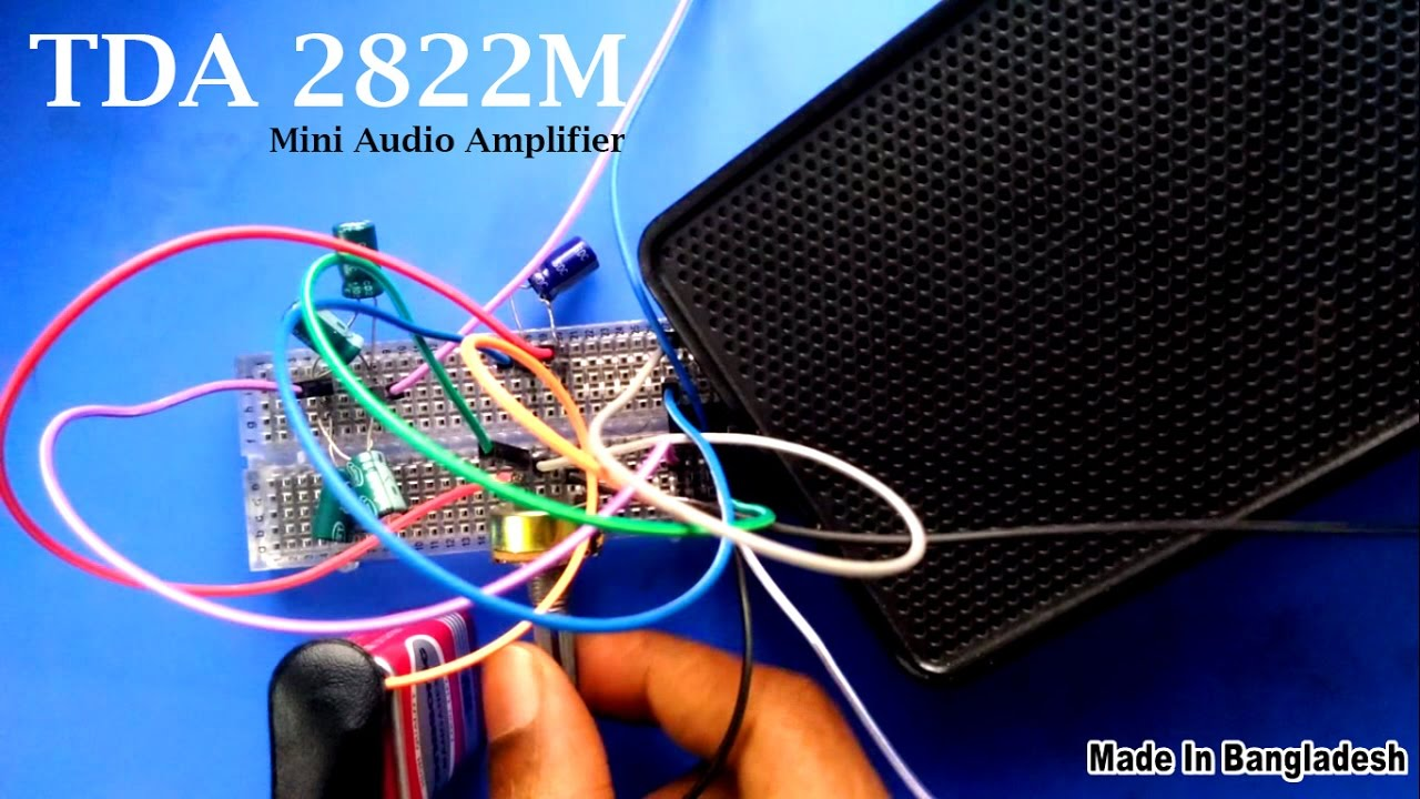 How To Make A Mini Audio Amplifier For Laptop Mobile Using Tda2822m Hifi By Ic Tda2003 Electronic Projects Circuits Very Simple Steps Youtube