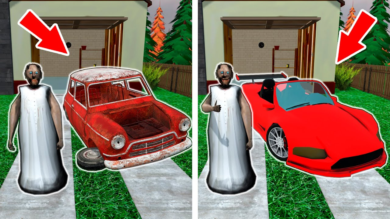 Granny and Expensive car vs Old car - funny horror animation parody (p.120)