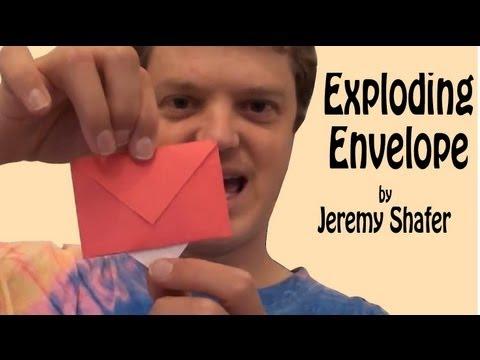 Origami Exploding Envelope by Jeremy Shafer