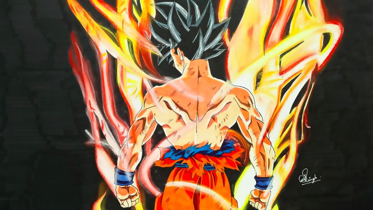 Drawing Goku LIMIT BREAKER - Dragonball Super (3K SUBS ...