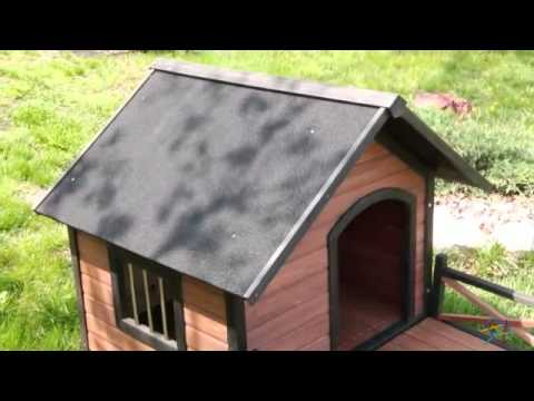 Boomer And George Lodge Dog House With Porch Large Product Review Video