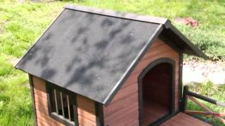 Boomer And George Lodge Dog House With Porch - Large - Product Review Video