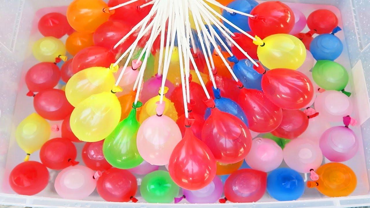 watter balloon fight in