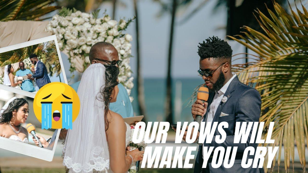 Reacting To Our Emotional Wedding Vows  | Chennai to Lagos