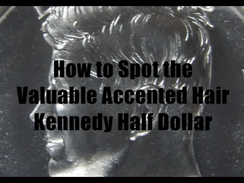 BACK TO BASICS - How To Spot The Valuable 1964 Kennedy Half Dollar Accented Hair Variety