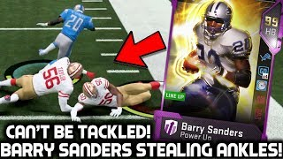 BARRY SANDERS STEALING ANKLES & TAKING NAMES! Madden 19 Ultima…