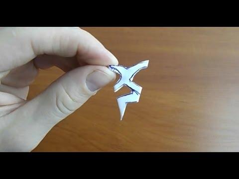 как сделать из бумаги маленькую снежинку видео