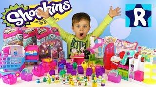 Рома открывает Большую Коллекцию ШОПКИНС 3 сезон Обзор и Распаковка Шопкинс Shopkins big collection