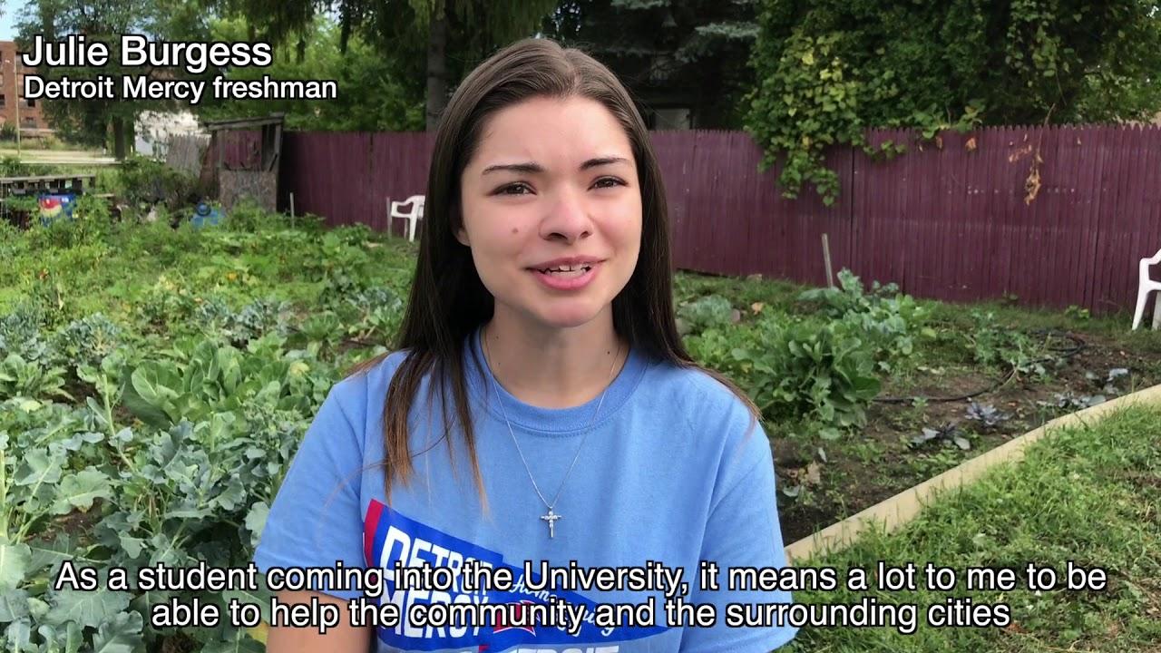 Detroit Mercy students enhance Fitzgerald neighborhood and Detroit-area gardens