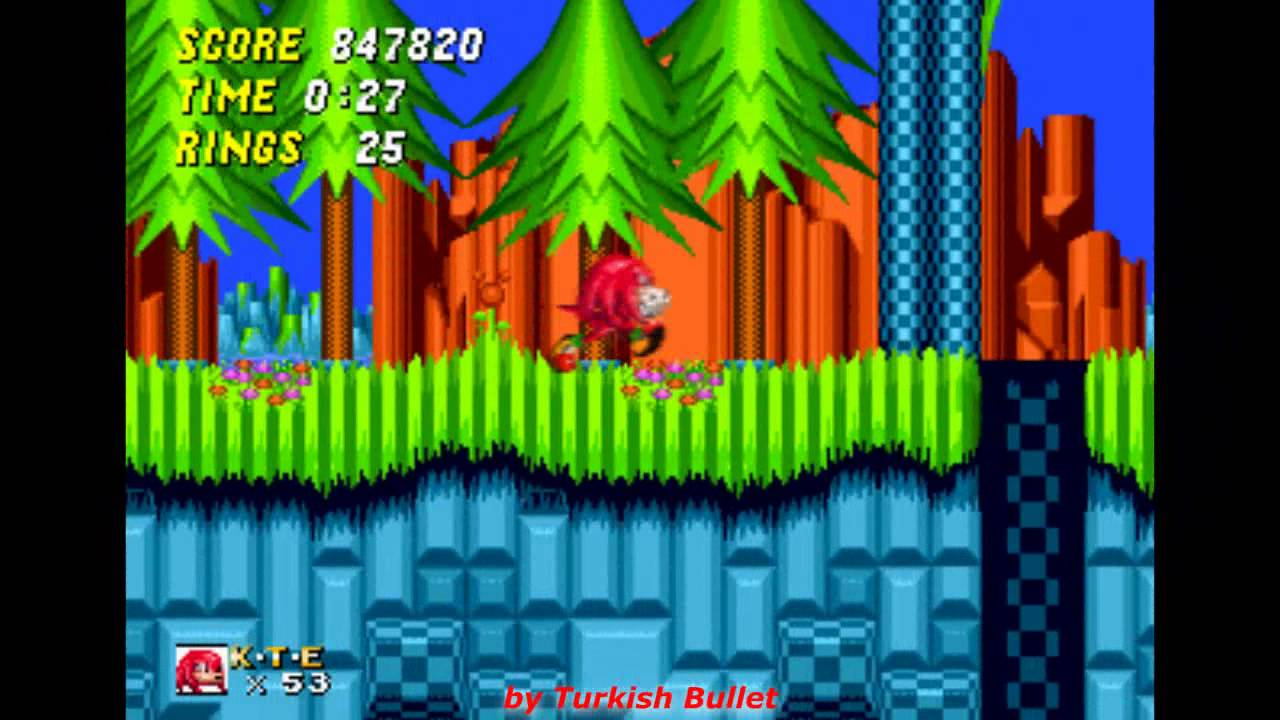 Knuckles The Echidna In Sonic The Hedgehog 2 Sega Mega Drive Genesis Longplay 100 Youtube