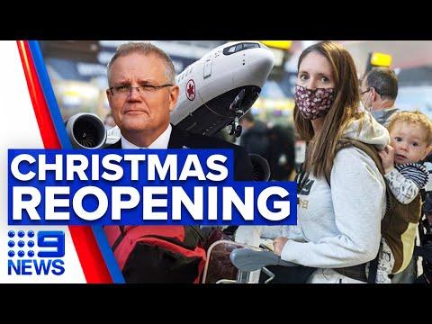 Coronavirus: Scott Morrison confident Australia to open up by Christmas | 9 News Australia
