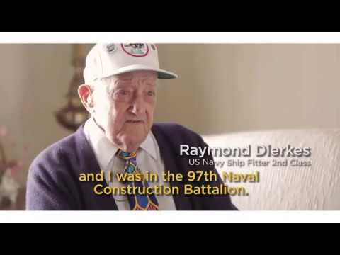 First Bank and the St. Louis blues honor US Navy Ship Fitter 2nd Class Raymond Dierkes