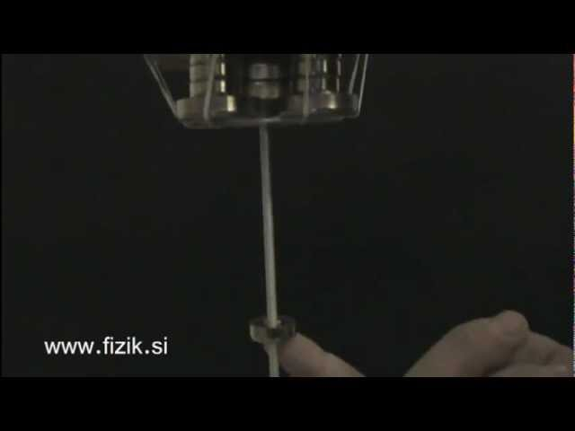 Magnet trapped in the magnetic field - Science experiment