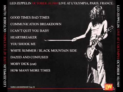 How Many More Times - Led Zeppelin (live Paris 1969-10-10)