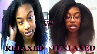 Relaxed Hair vs Texlaxed Hair! (HIGHLY REQUESTED)