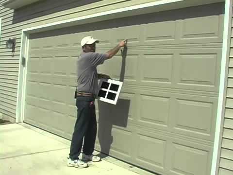 How to Measure for Faux Garage Windows - YouTube
