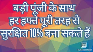 You can make fully safe 10% every week with big capital- Banknifty butterfly option strategy