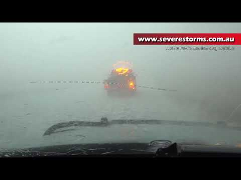 Monster Hail Destroys storm chasing vehicle in Roswell New Mexico - 2nd June 2019