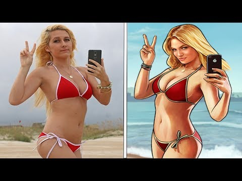 Who is the blonde beach girl in real life?