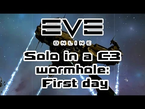 Eve Online - Solo in a C3 wormhole: First Day