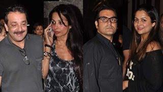 Malaika, Sanjay Dutt & Amrita Arora SPOTTED @ Farhan Akhtar