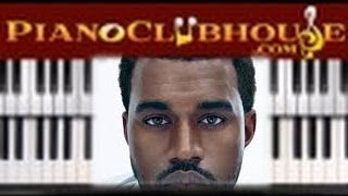 """KANYE WEST - """"MERCY"""" - easy piano lesson tutorial - Ft. Big Sean, Pusha T, 2 Chainz"""