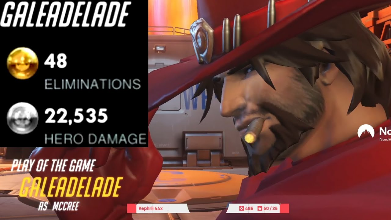 48 ELIMS - GALE DPS MAIN MCCREE! POTG! [ OVERWATCH SEASON 25 TOP 500 ]