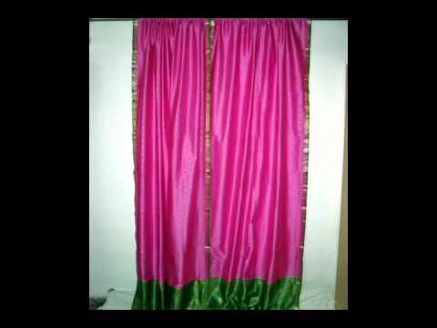 Indian Silk Sari Door Panels / Curtains