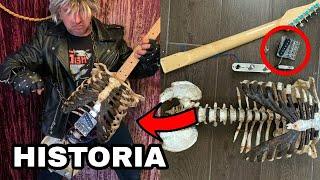 El Metalero que construyó una guitarra eléctrica con los Huesos de su tío