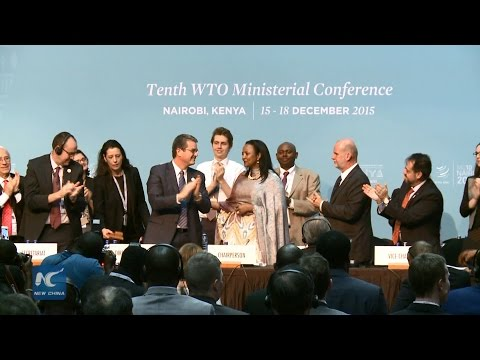 WTO nairobi meeting ends with major breakthrough on globle trade