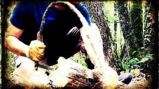 Bushcraft - Premier essai de la Scie Arc / Bow Saw