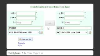 Convertisseur de coordonnées en ligne