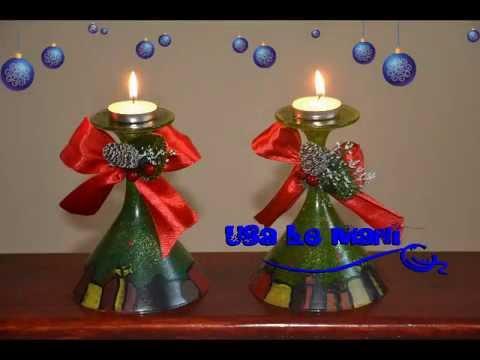 Tutorial porta candele natalizio fai da te candleholder christmas diy youtube - Porta cd fai da te ...