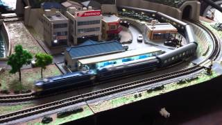 Tokyo Marui Pro Z EF65-500 Train and layout