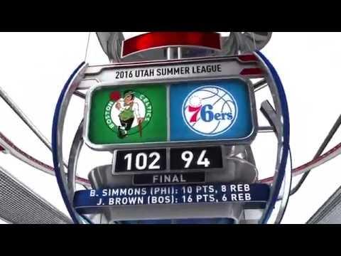 Boston Celtics vs Philadelphia 76ers   July 4, 2016   NBA Utah Summer League 2016
