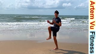 постер к видео Fat Bruning Stay Home Workout For Beginners #artemfitness