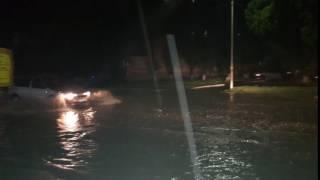 В Уфе из-за ливня подтопило несколько улиц