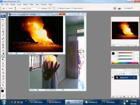 hướng dẩn sử dụng photoshop cs3 để ghép hình đơn giản