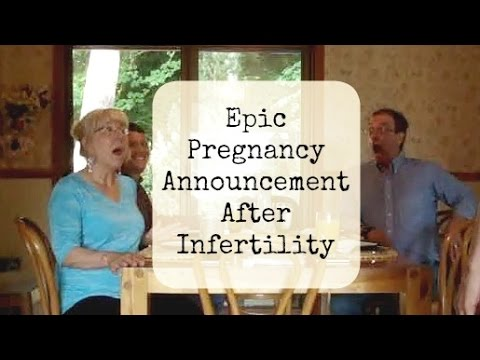 Epic Pregnancy Announcement After Infertility From 2012