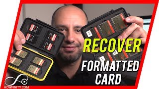 How to recover DELETED Files from a formatted SD or CF cards-Recover Video/Audio/Photos/Data