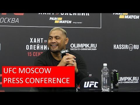 UFC MOSCOW - MARK HUNT POST FIGHT PRESS CONFERENCE