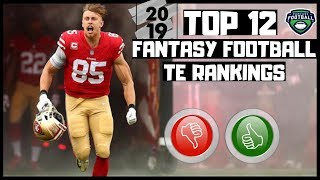 2019 Fantasy Football Rankings - Top 12 Overall Tight Ends ( TE ) thumbnail