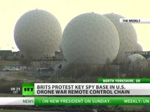 US 'intelligence war' triggers 'Occupy spy base' in UK