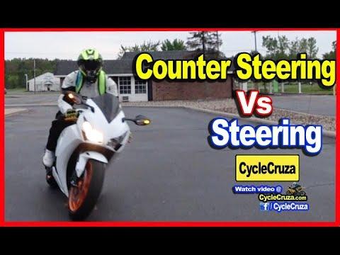 Steering Vs Countersteering Motorcycle (Simplified)