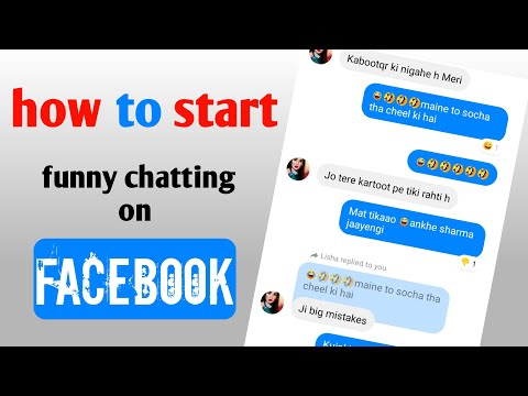 How To Start Funny Chat With Unknown Girls On Facebook| Funny Chatting With Girl