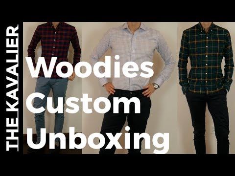 Woodies Custom Chinos, Performance Dress Shirt, and Flannel Unboxing